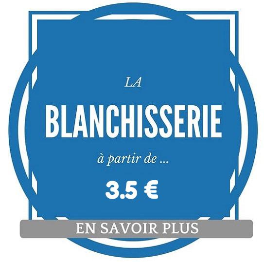 Etiquette tarifs blanchisserie à partir de 3 euros 50