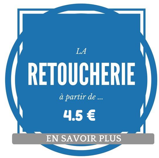 Etiquette tarif retoucherie à partir de 4 euros 50